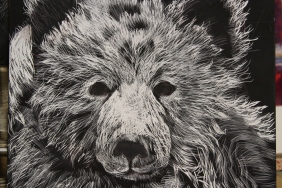 Sooo now scratchboard.... Why not? I can do on my lap in the car when tom drives...