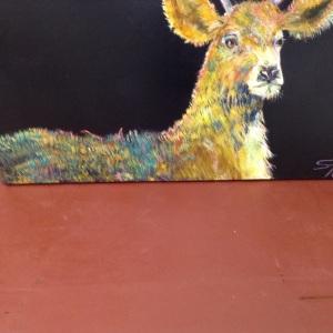 3'x6' deer. Acrylic